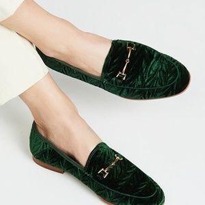 NWOT Sam Edelman Crushed Velvet Loraine Loafers